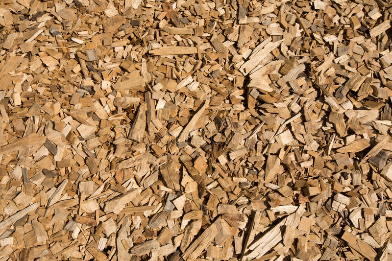 Wood chips closeup. Background texture stock image