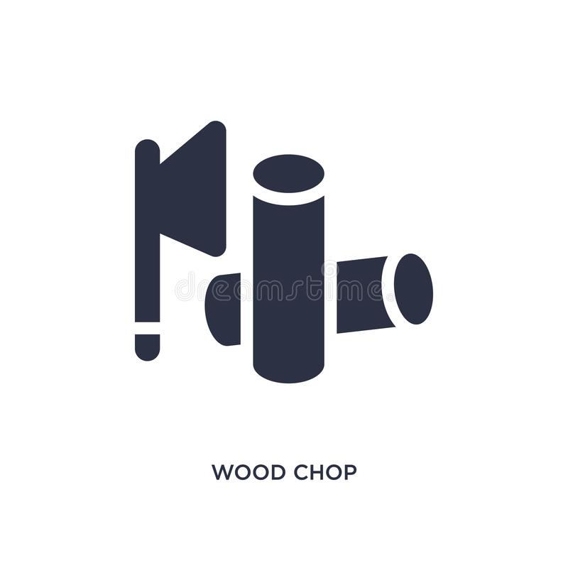 Wood chop icon on white background. Simple element illustration from agriculture farming and gardening concept. Wood chop icon. Simple element illustration from royalty free illustration