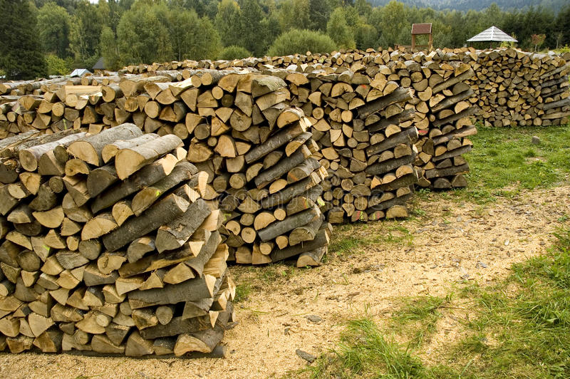 Wood Chopped For Fireplace Stock Photography