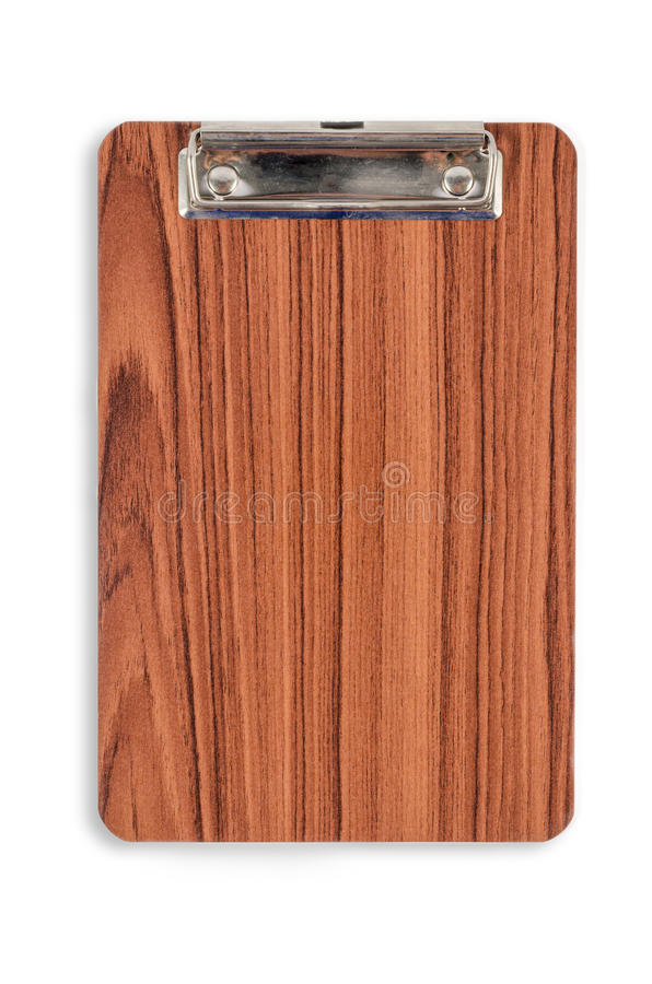 Wood clipboard for text and background royalty free stock image
