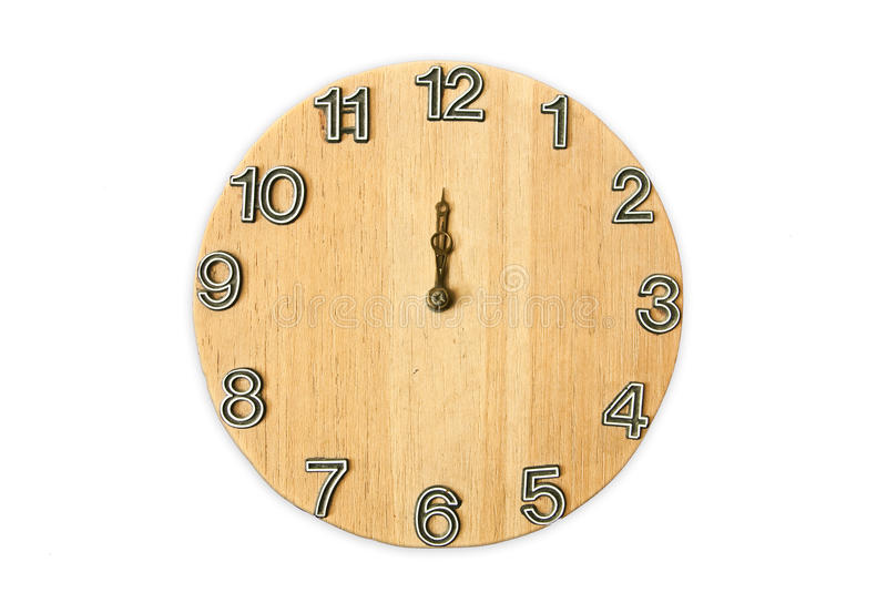 Download Wood clock stock image. Image of pine, pass, isolated - 15448677
