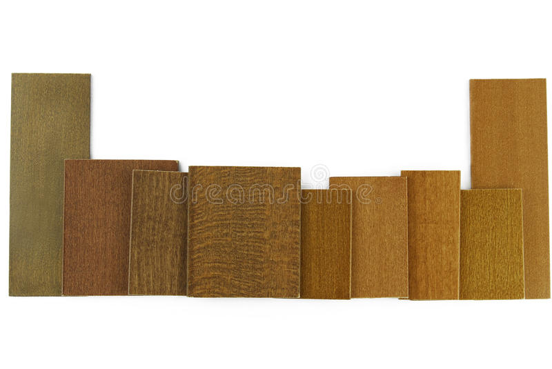 Wood color and texture sample. Closeup of the wood color and texture sample royalty free stock photography