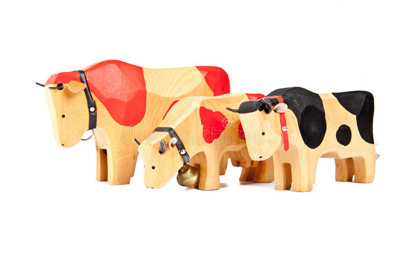 Wood cow toy royalty free stock photos