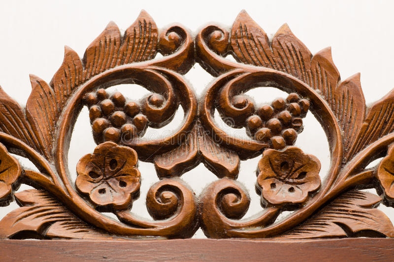 Wood Craft, vintage. This vintage Wood Craft made by a good craftsman in Thailand long ago royalty free stock photo