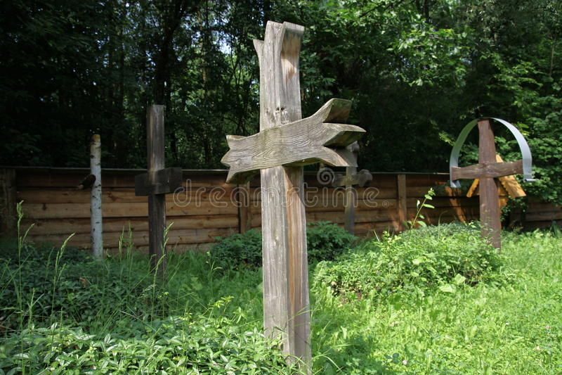 Download Wood crucifix on cemetery stock photo. Image of cemetery - 19747986