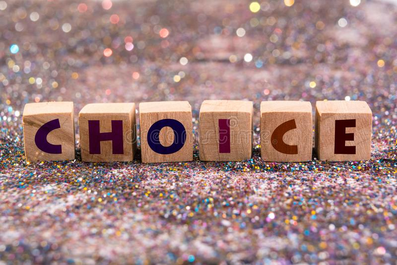 Choice word royalty free stock photo