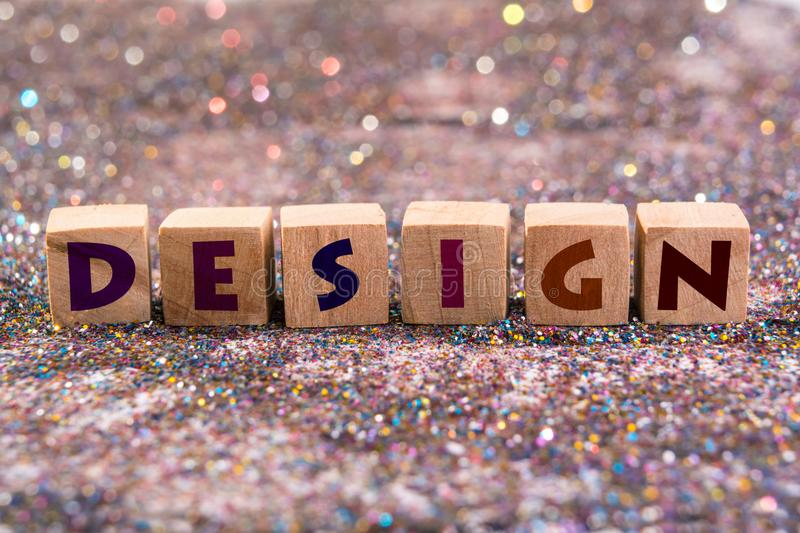 Design word royalty free stock photography