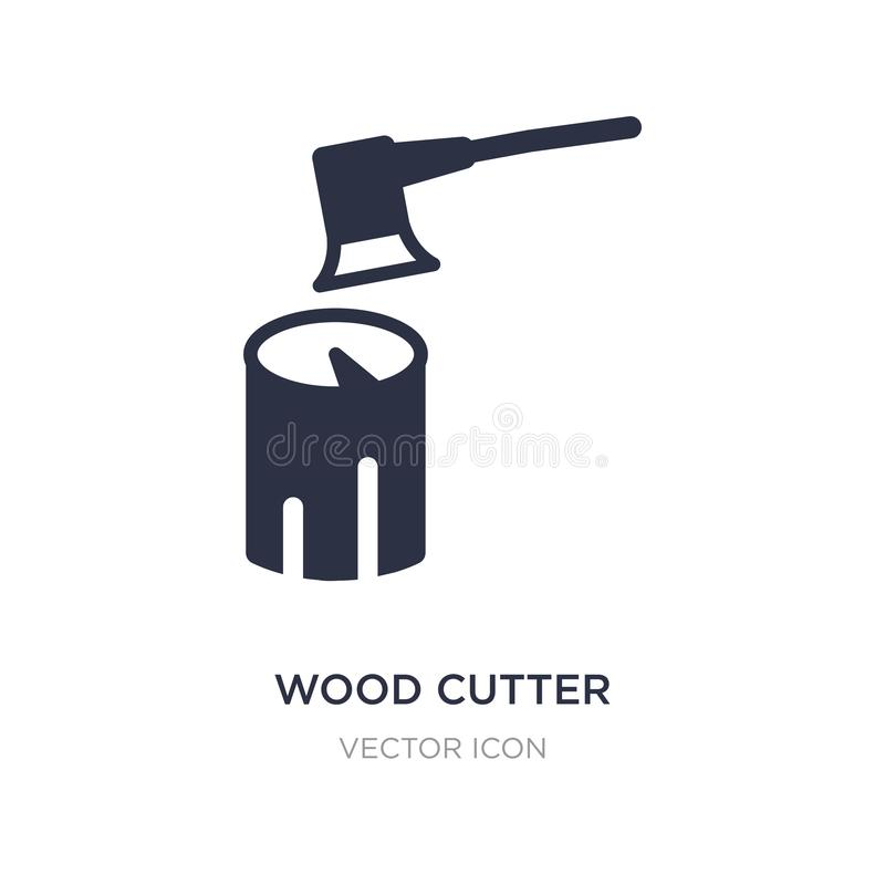 Wood cutter icon on white background. Simple element illustration from Other concept. Wood cutter sign icon symbol design vector illustration
