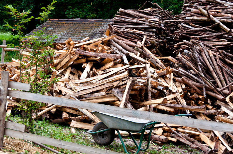 Wood Cutting Scenery Royalty Free Stock Photos