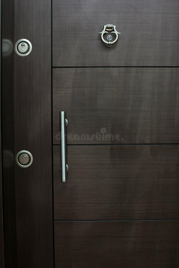 Wood dörr arkivbild