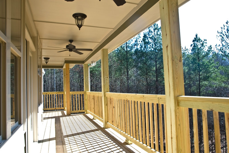Wood Deck/Porch on House royalty free stock photos