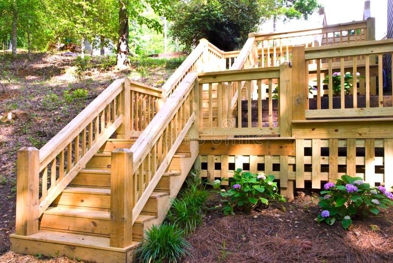Wood Deck Steps stock images