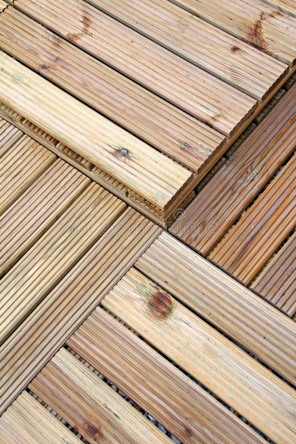 Wood decking pattern. Photo of pine decking squares ideal for background royalty free stock photos