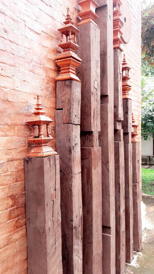 Wood decoration Thai style old house royalty free stock photos