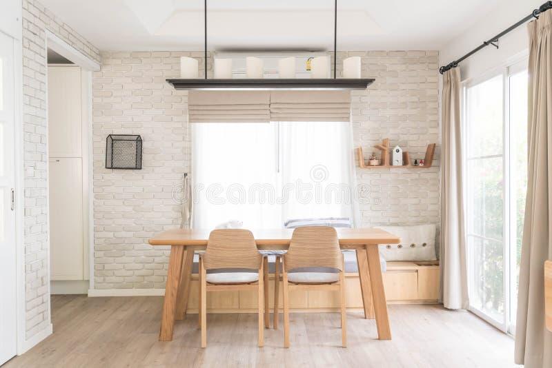 dinning table interior decoration stock photos