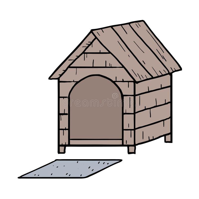 Wood dog home. Creative design of wood dog home royalty free illustration