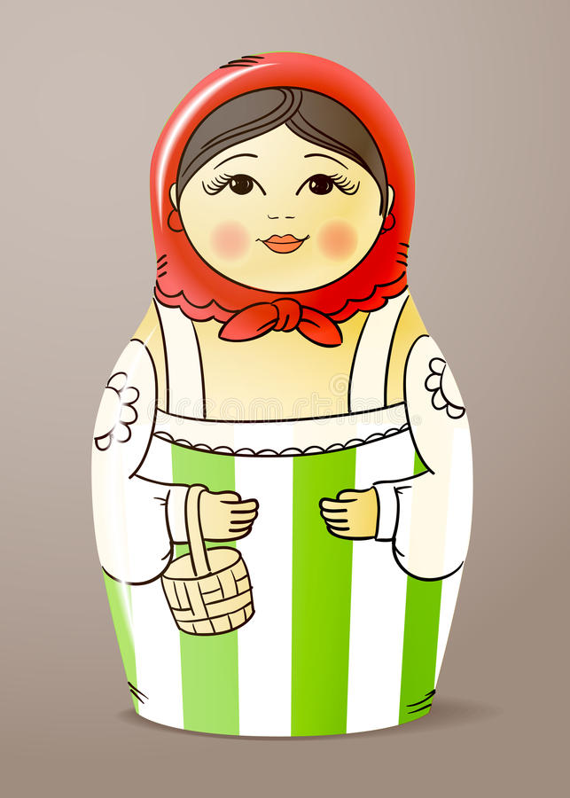 Download Wood doll stock vector. Illustration of dress, ornate - 23507648