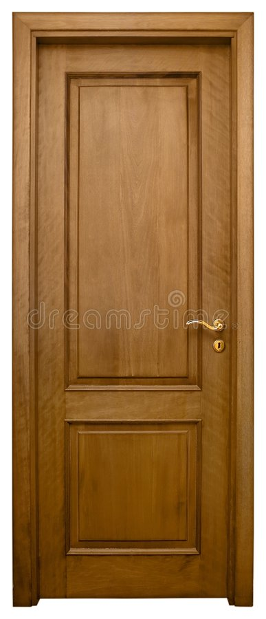 Download Wood Door 3 stock image. Image of detail, french, hinged - 718051