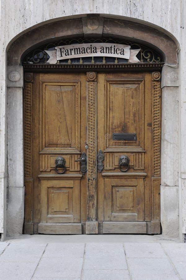Wood door stock photography