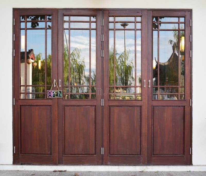 Wood door. royalty free stock photography