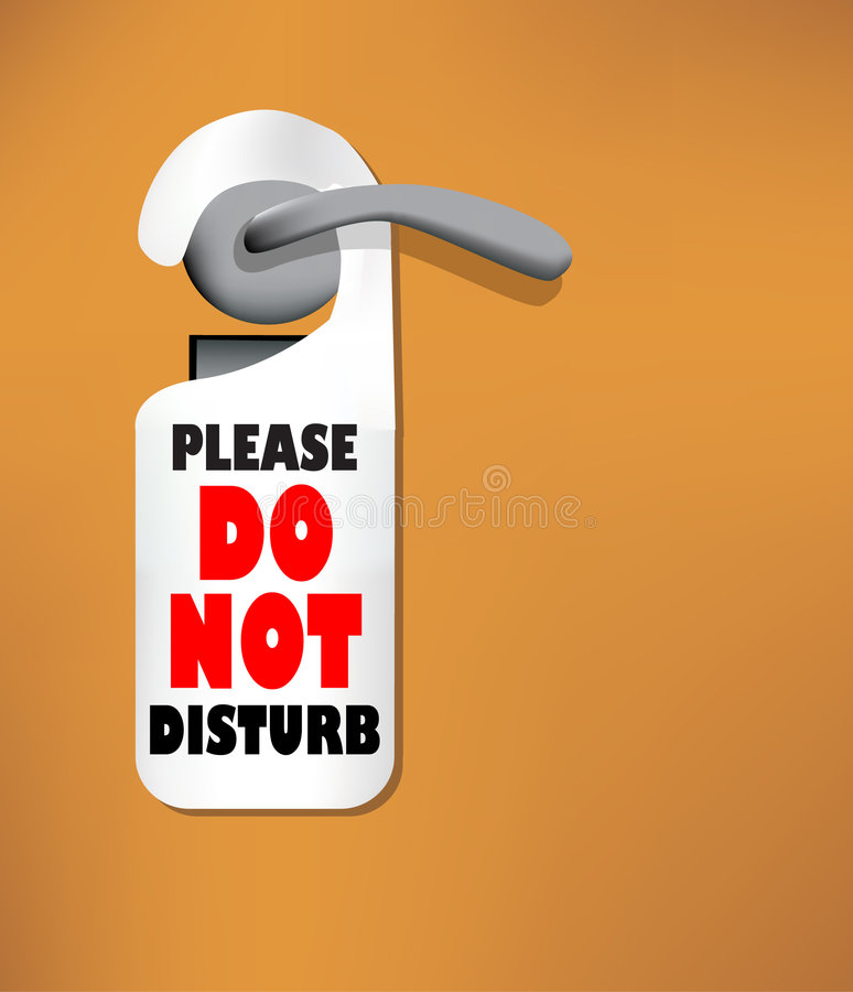 Download Wood Door With A Do Not Disturb Sign Stock Vector - Image: 8636836