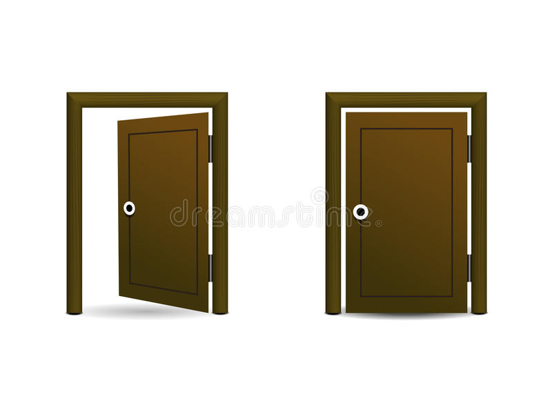 Download The wood door icon stock vector. Illustration of illustration - 44571168  sc 1 st  Dreamstime.com & The wood door icon stock vector. Illustration of illustration - 44571168