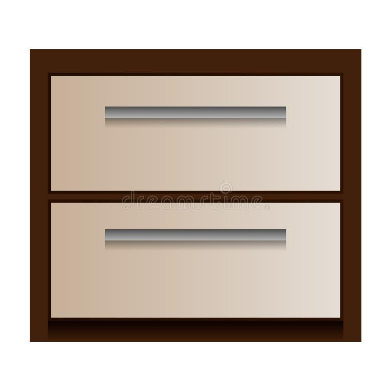 Wood drawer mockup, realistic style. Wood drawer mockup. Realistic illustration of wood drawer mockup for web design isolated on white background stock illustration