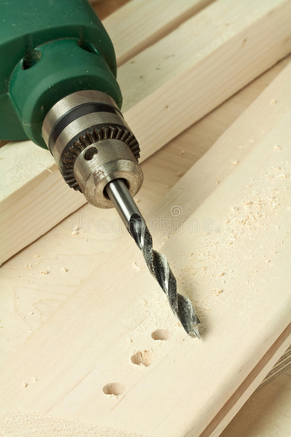 Wood drill stock images