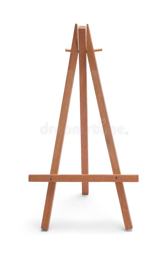 Wood Easel stock photos
