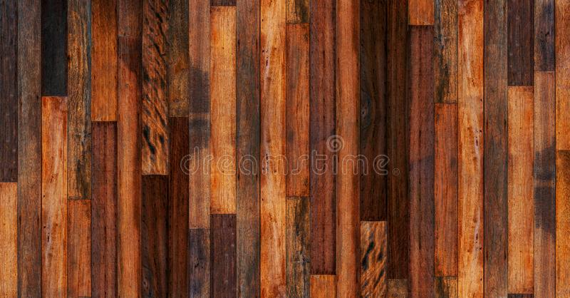 Wood  empty room for background. Big empty room in grange style with wooden floor. White wall stock photography