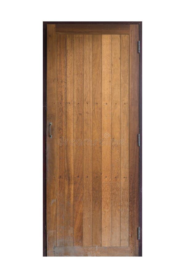Wood enkel dörr för gammal grunge, bakgrund, textur fotografering för bildbyråer