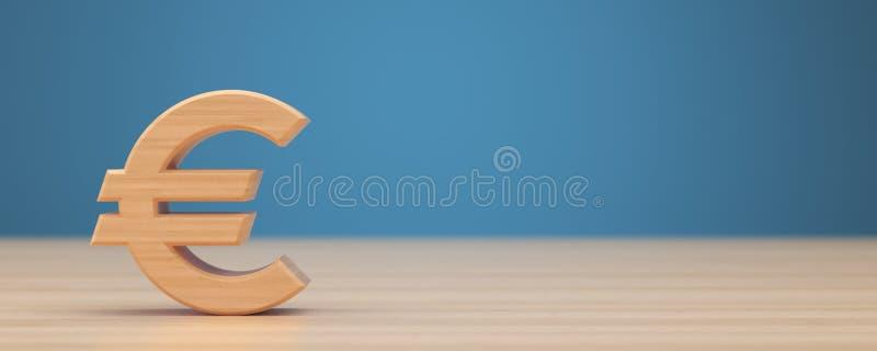 Wood euro sign, symbol stock images