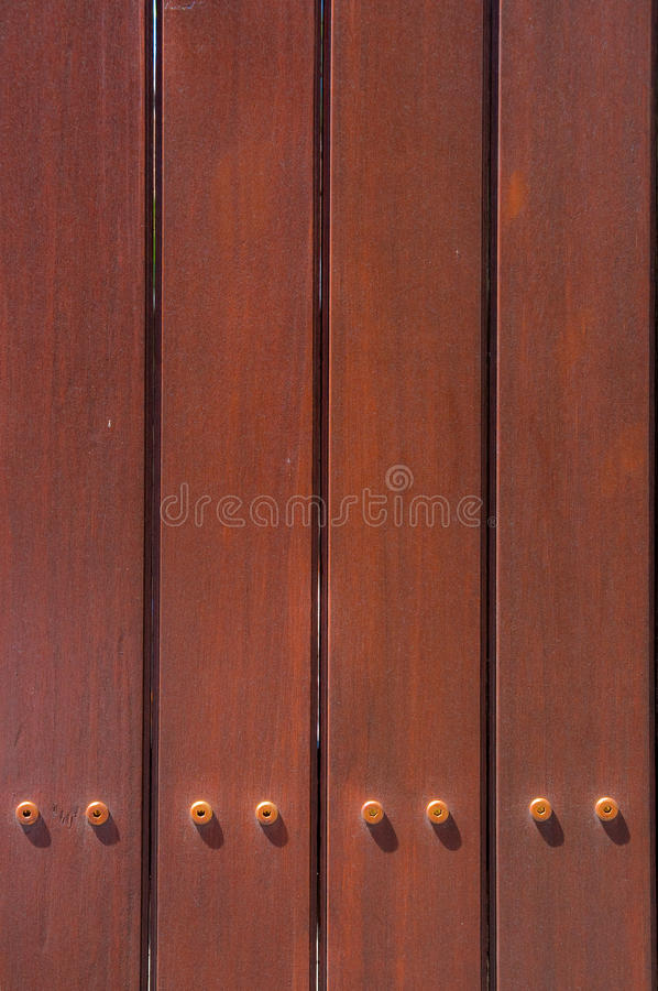 Wood Fence. Dark Brown Wood Fence Pattern stock photo