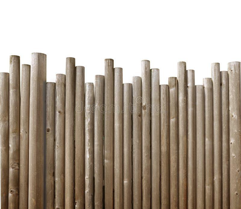 Wood Fence Borderon White Background royalty free stock images