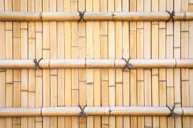 Wood fence. Brown bamboo wood fence pattern and background stock photography