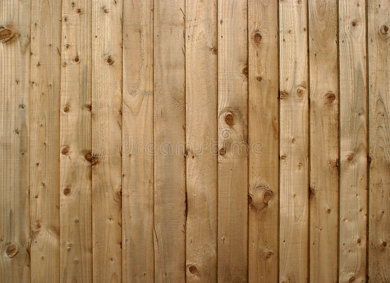 Wood fencing. A wooden fence