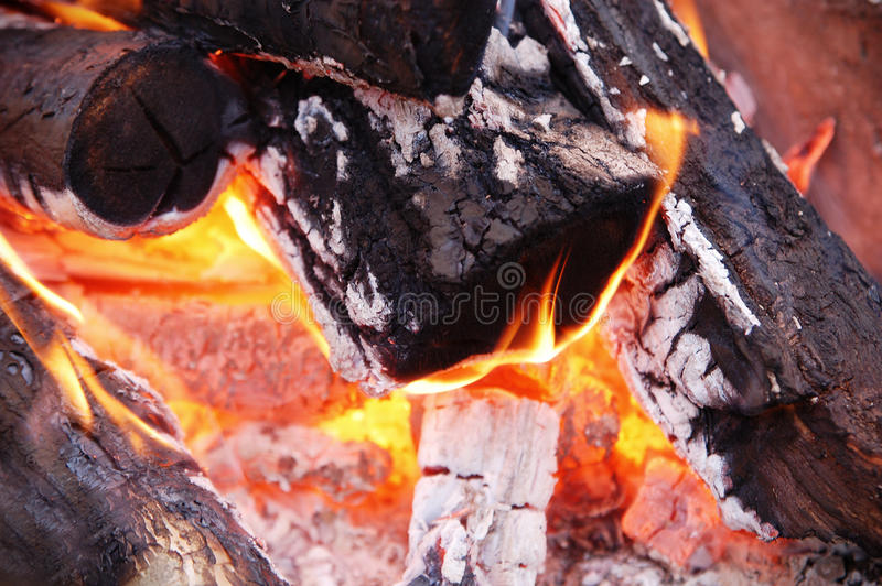 Wood In The Fire Stock Photos