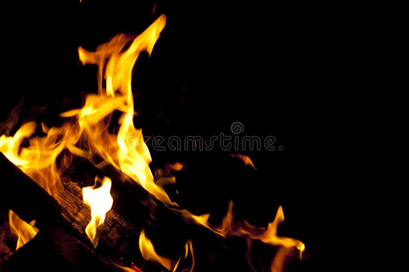 Wood in fire royalty free stock photos