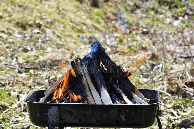 The Wood fire. Glimpse into a wood fire. Wood fire. Glimpse into a wood fire royalty free stock image