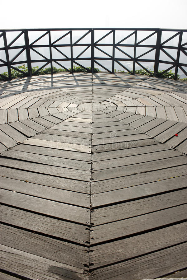 Wood floor. Beacon Hill Mountain wood floor in Shenzhen stock images