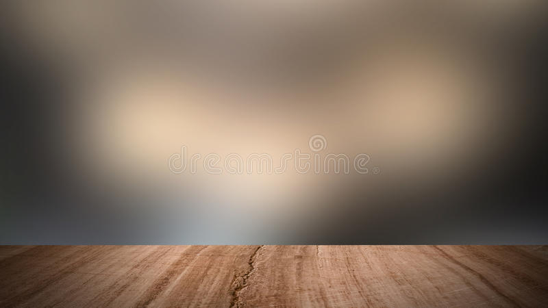 Wood floor and blur background. stock photo