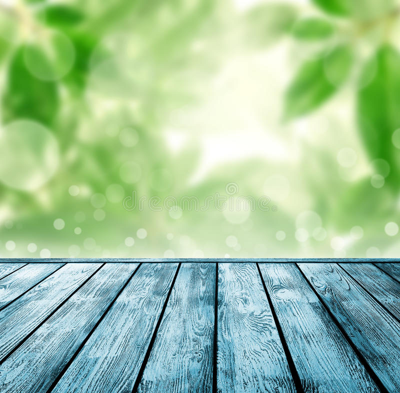 Download Wood Floor With Green Bokeh . Stock Photo - Image of field, easter: 35853256