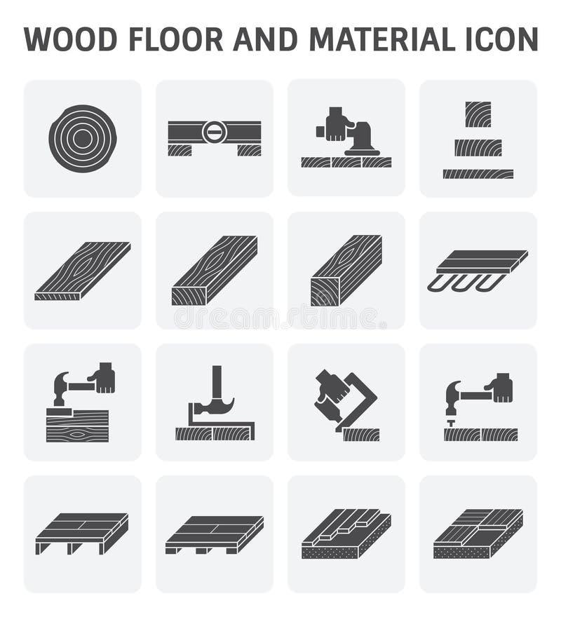 Wood floor icon royalty free illustration
