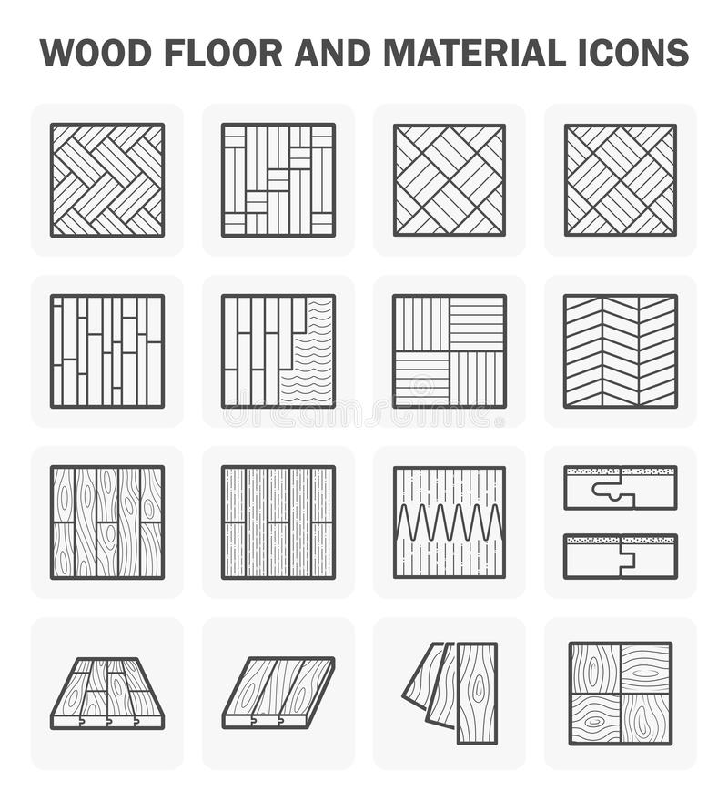 Wood floor icons vector illustration