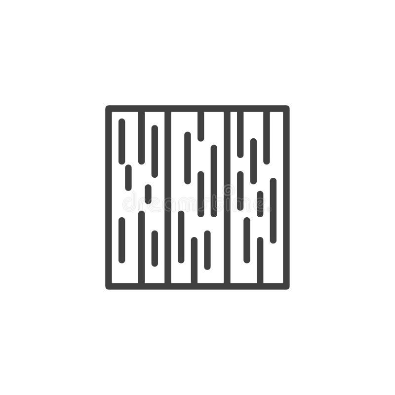 Wood floor line icon vector illustration