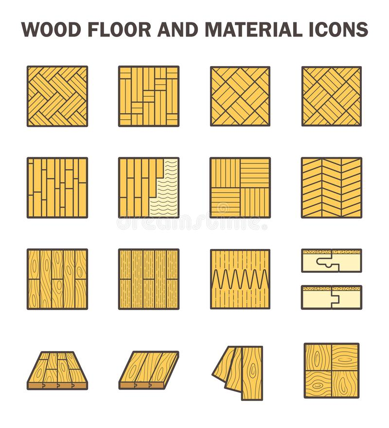 Wood floor icons stock illustration