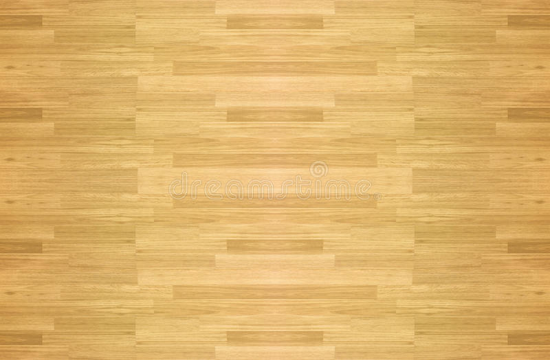 Wood floor parquet hardwood maple basketball court floor viewed. From above for design texture pattern and background stock photo
