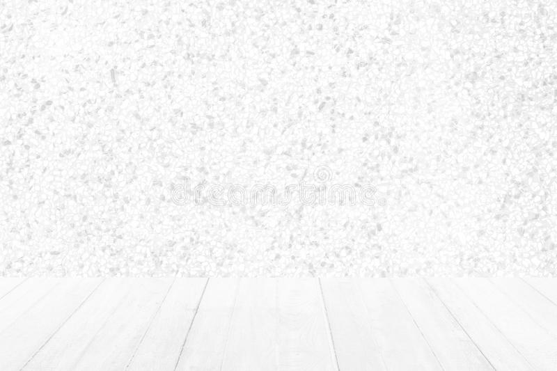 Wood Floor with Sand Stone Wall Texture Background. White Wood Floor with Sand Stone Wall Texture Background stock image