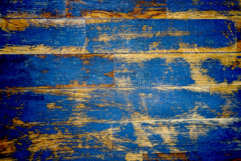 Wood Floor Texture. Creating a nice abstract surface with old blue scratched paint royalty free stock photography