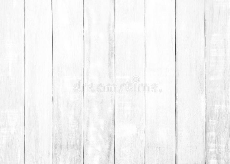 Wood floor texture pattern plank surface painted white pastel wall background. stock image